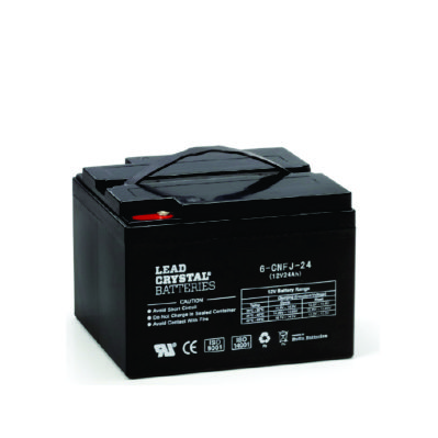 24ah 12v deep cycle lead crystal battery bc 6cnfj 24 batteries online. Black Bedroom Furniture Sets. Home Design Ideas