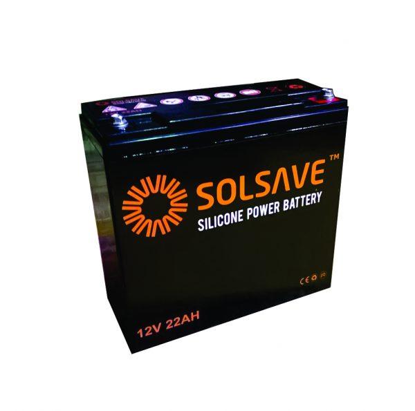 22AH - 12V Solsave Silicone Battery - BCS-12V22