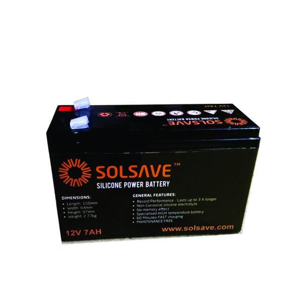 8.6AH - 12V Solsave Silicone Battery - BCS-12V7A