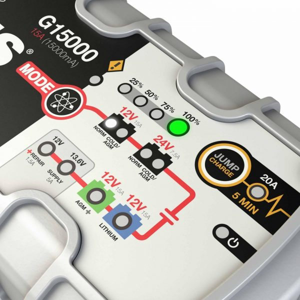 15 amp 12/24V NOCO Genius G15000 Multi-Purpose Battery Charger 3