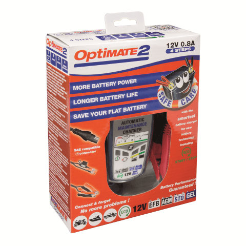 OptiMATE 2 - 4-step 12V 0.8A Battery charger-maintainer