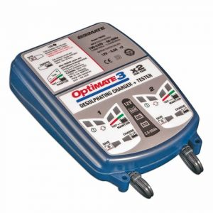 OptiMATE 3 x 2 BANK - 2-bank x 7-step 12V 0.8A Battery saving charger-tester-maintainer