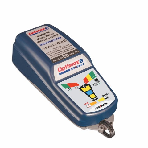 OptiMATE 6 – Ampmatic 9-step 12V 5A Battery Saving charger-tester-maintainer 1