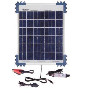 OptiMATE SOLAR + 10W Solar Panel Solar Pulse Charger, Tester & Maintainer for 12V batteries, with 10W solar panel