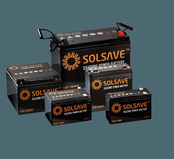 12AH - 12V Solsave Silicone Battery - BCS-12V12