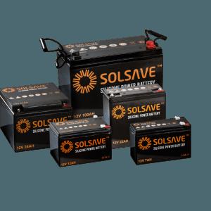27AH - 12V Solsave Silicone Battery - BCS-12V24