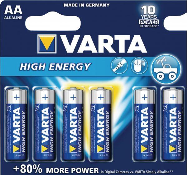 HIGH ENERGY AA - 6 Pack (x10)
